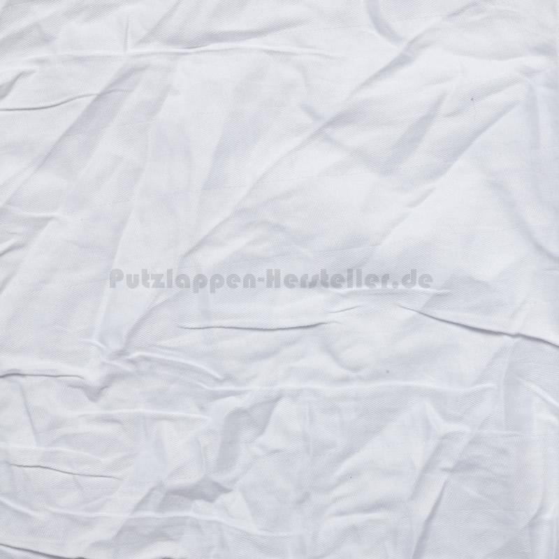 Ein einzelnes Tuch Kattun Weiß