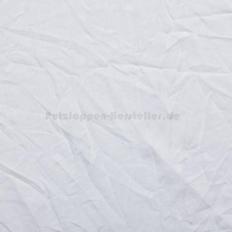 Ein einzelnes Putztuch aus weißem Trikot