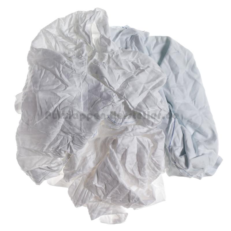 Einige lose Putztücher aus weißer Bettwäsche
